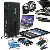 Indigi 12800mAh Power Bank iPhone Tablet Laptop Camera Emergency Car Jump Starter Tire Compressor