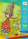 Djeco 599386031 - Flores con números, fieltros y pinceles