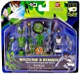 Ben 10 (Ten) Alien Creation Chamber Mini Figure 2-Pack Wildvine and Benwolf