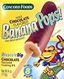 Concord Foods Banana Pops! Freeze 'N Dip Chocolate Covered Banana Coating Mix ( Pack of 4 )