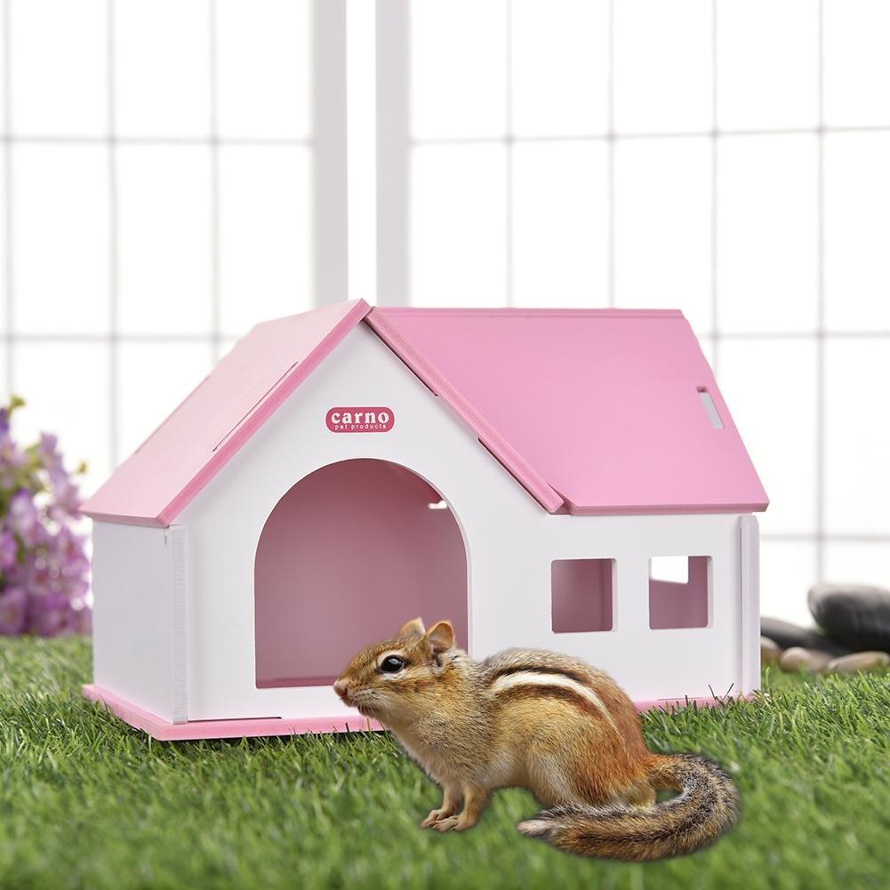 Somedays - Caseta pequeña de PVC para hámsters de erizo, hámster dorado, cálida y cómoda, tablero ecológico de madera para mascotas: Amazon.es: Bricolaje y ...