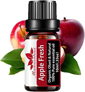 Mumianhua 10ml Organic Apple Essential Oils 100% Pure Apple Fresh Essential Oil Therapeutic Grade Apple Fragrance Oil Fruity Essential Oil for Diffusers, Aromatherapy,Soap Making