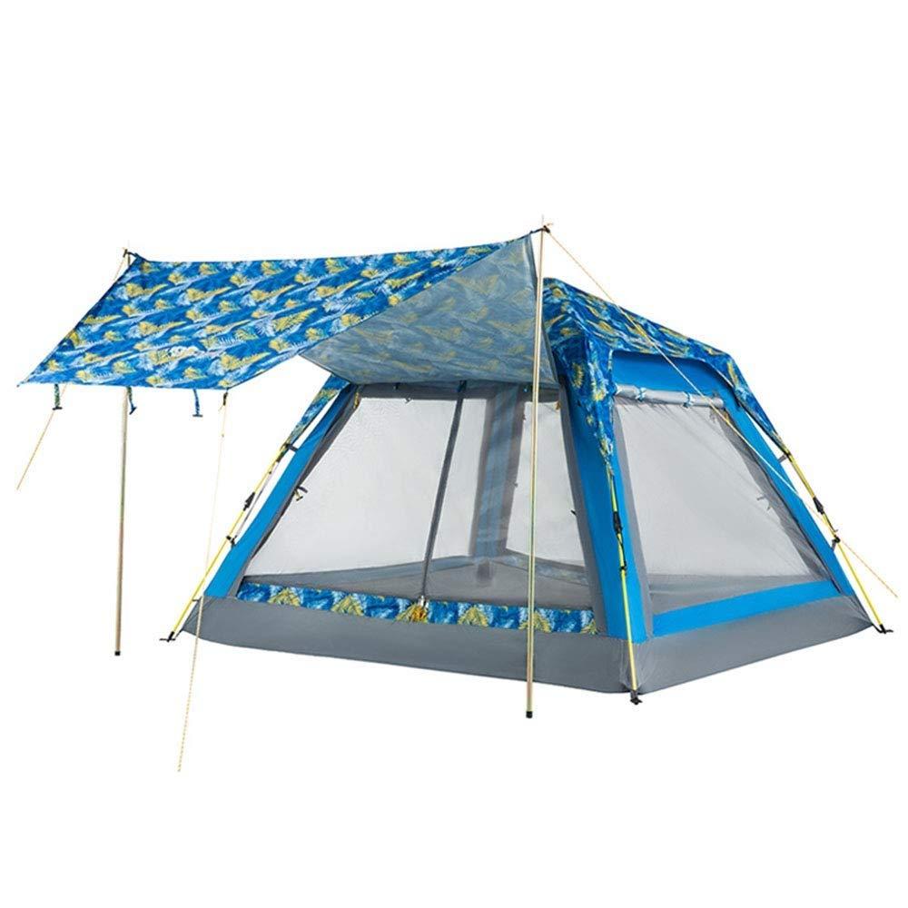 Jkl000-tent Kreatives Outdoor-Campingzelt 3-4 Personen Sofort Schnell Offen Ultraleicht Sonnenschutz Wasserdichte Familie Freunde Reisen Strand Picknick Park Rasen 2 Farbe Optional