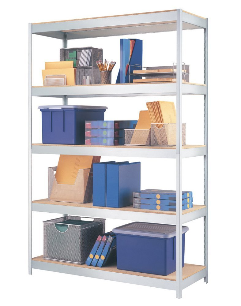 Amazon.com: Hirsh Industries Steel Galvanized Metal Shelving Unit ...