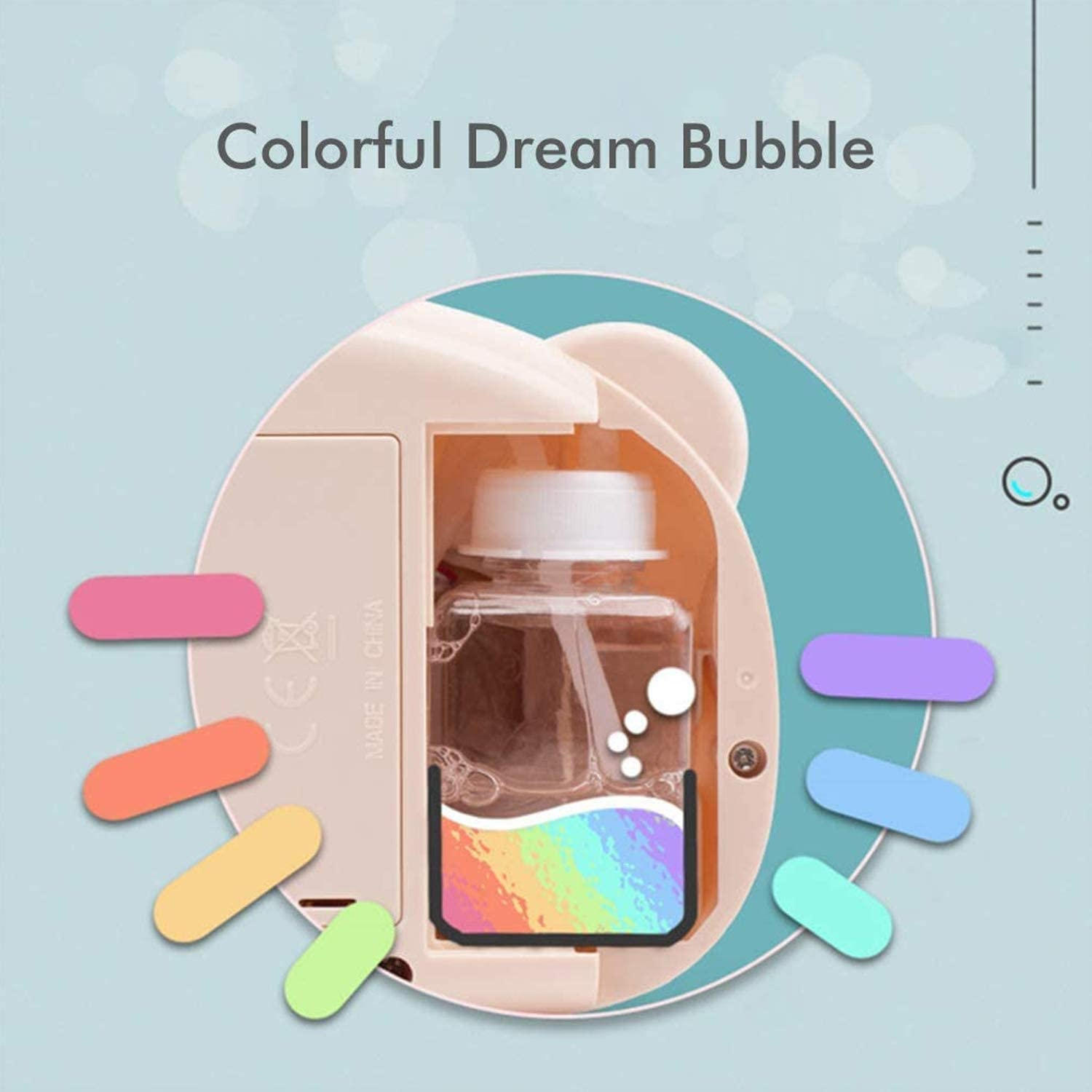 with Sound Effect Piggy Appearance Childrens Bubble Machine Portable Electric Automatic Blower Battery Operated Bubble Machine Bubble Camera Toy Electric Automatic Bubble Blowing Maker Camera