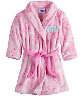 Toddler Girls Bath Robe Peppa Pig Pink Soft Plush Little Girls Robe