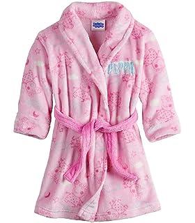 Toddler Girls Bath Robe Peppa Pig Pink Soft Plush Little Girls Robe