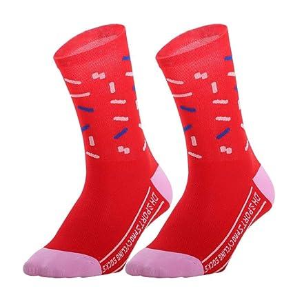 Aesy Calcetines Deportivos para Hombres Mujer, Vestir Resistente Respirable Mediados Longitud Formación Calcetines, para