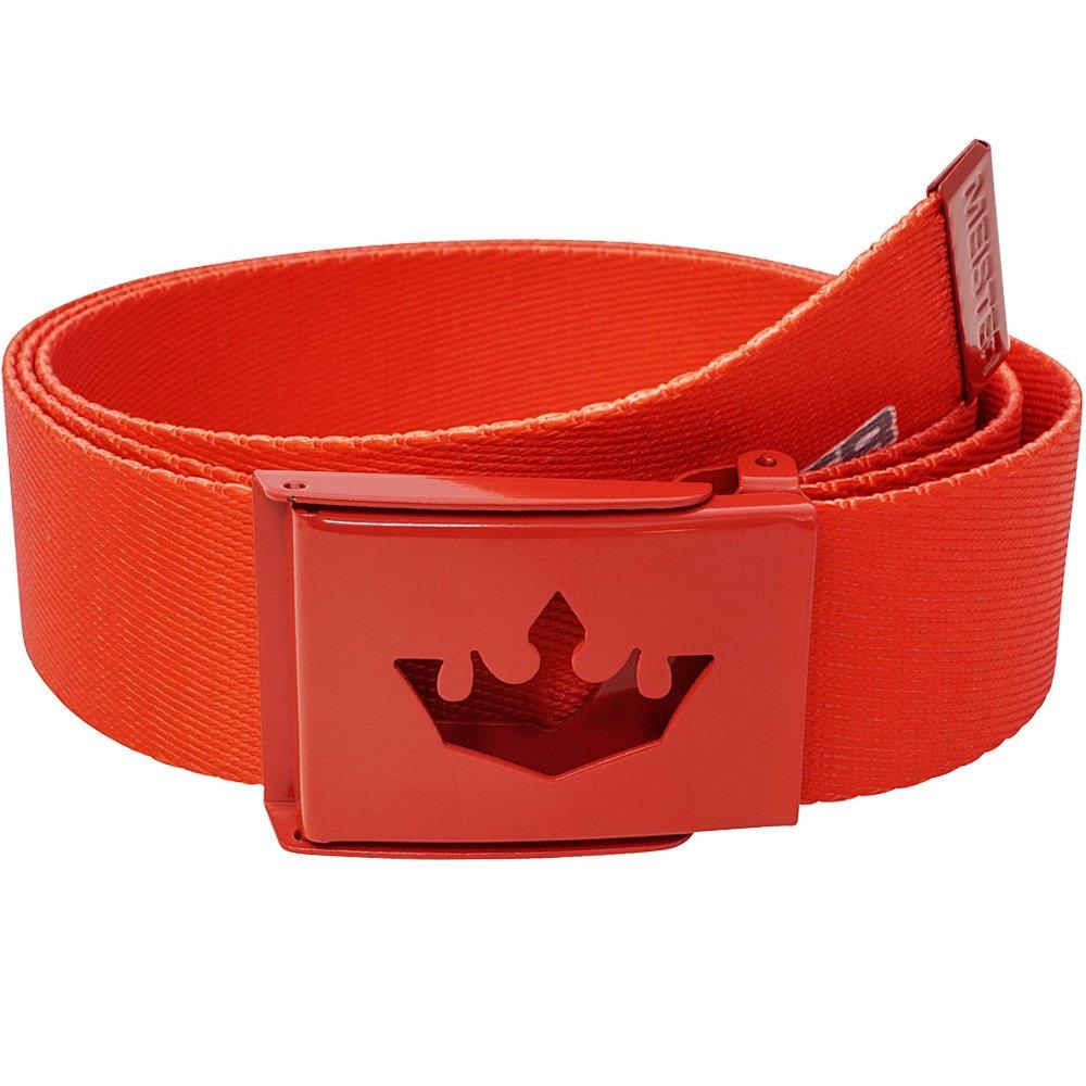 Meister Player Golf Web Belt - Adjustable & Reversible - Team Red