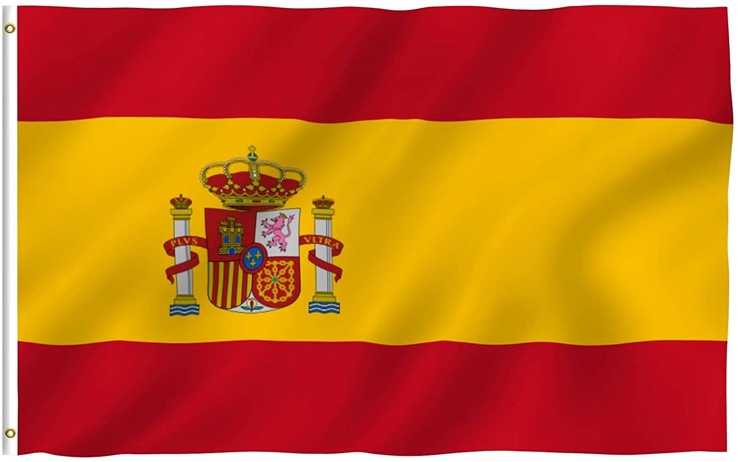 Amazon Com Anley Fly Breeze 3x5 Foot Spain Flag Vivid Color And Fade Proof Canvas Header And Double Stitched Spainish National Flags Polyester With Brass Grommets 3 X 5 Ft Garden Outdoor