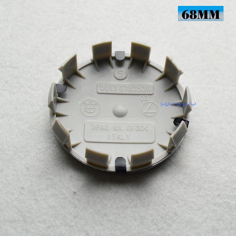 Hanway - Juego de 4 tapacubos para BMW (10 pines, base para BMW M Power HAMANN AC SCHNITZER): Amazon.es: Coche y moto