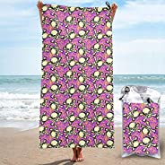 Guitars on Green Thin Beach Towel - Quick Dry Pool Towels with a Carrying Bag for Camping Travel Hiking Yoga S