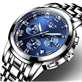 Watches,Men's Watches,Men's Roman Numeral Stainless Steel Chronograph Quartz Analog Wrist Watch