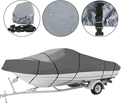 Heavy Duty Waterproof Boat Cover 17 18 19ft beam-95/'/' Speedboat V-Hull
