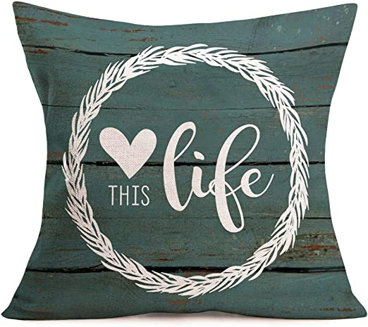 Decorative Throw Pillow Case 18 X18 Best Dog Mom DECOPOW Gift to Mom Throw Pillow Cover