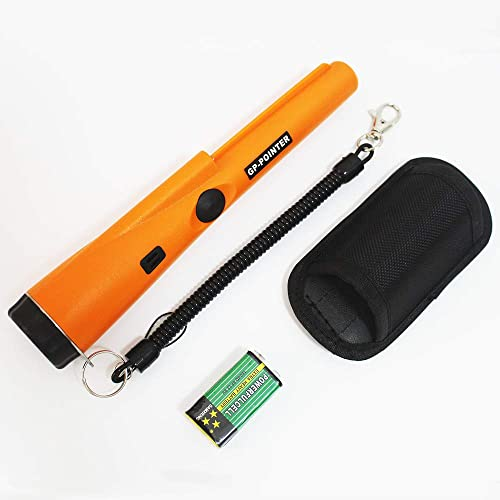 Metal Detector Handheld GP-Pointer with Belt and Holster Portable Include Battery 360 Scanning Unearthing Treasure Finder with High Sensitivity for Locating Gold Coin Silver Jewelry Fully Waterproof