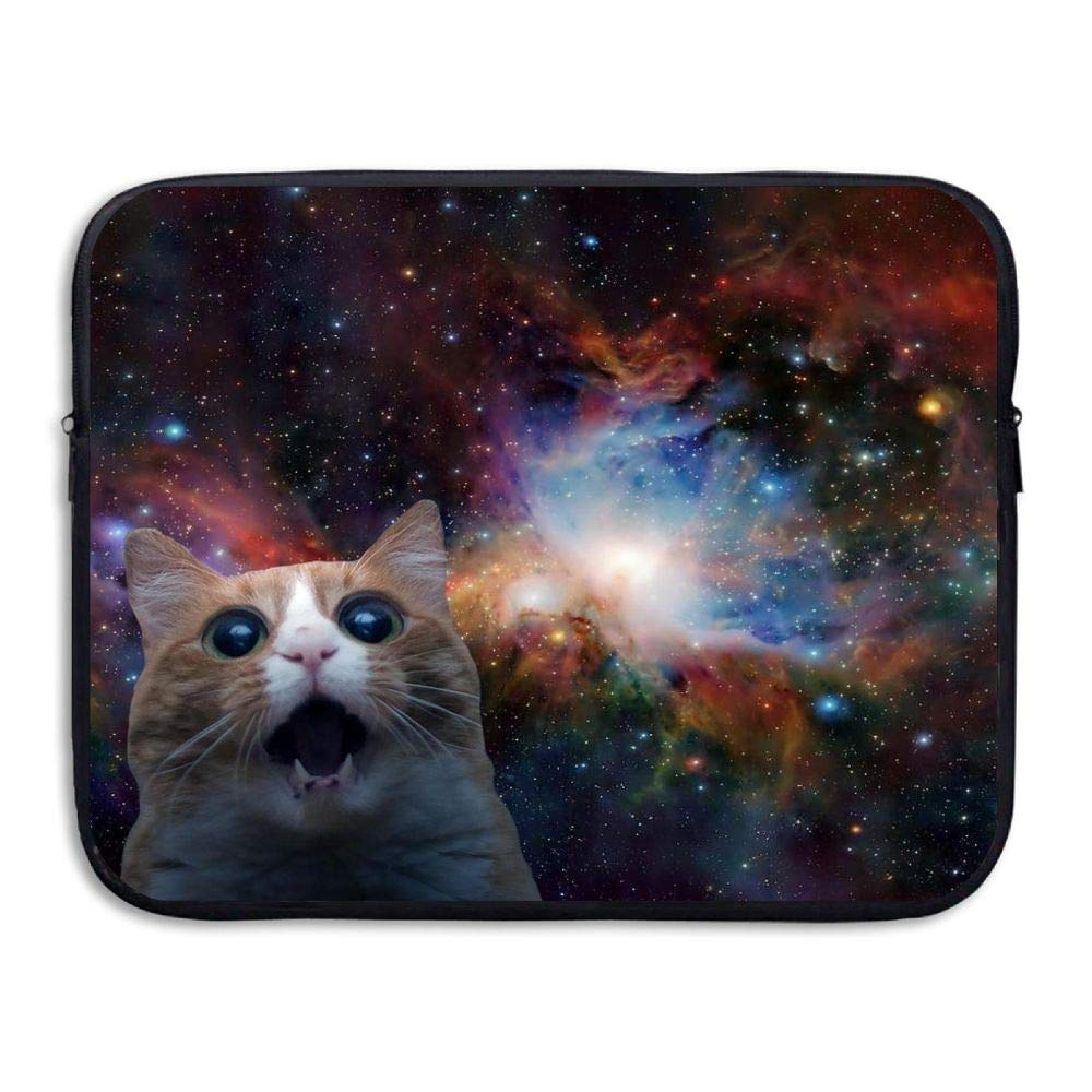 Ministoeb Lovely Space Cat Love Laptop Storage Bag - Portable Waterproof Laptop Case Briefcase Sleeve Bags Cover