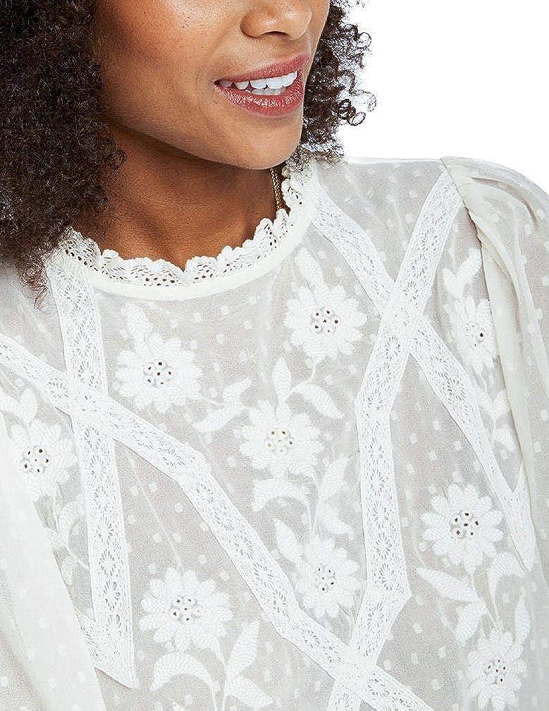 Naf Naf Blusa LHNC64 Crudo Mujer 42 Blanco: Amazon.es: Ropa