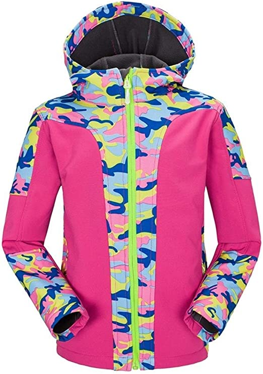 Boys Ski Snow Winter Windbreaker Jacket Hoodie Kids Coat Warm Waterproof Outwear