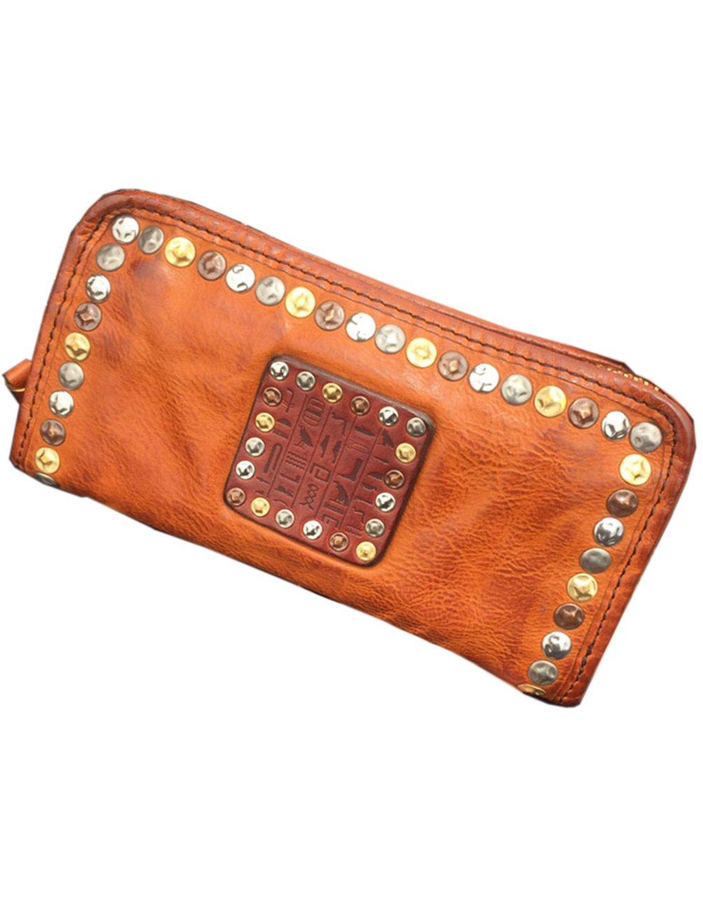 Menschwear Mens Genuine Leather Designer Wallet Credit Card Holder Purse Yellow