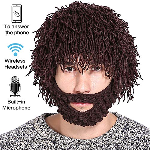 peluca 1 Sombrero al libre regalo divertido en con Marrón Halloween Tamaño Halloween Cap para deportivo 2 aire Bluetooth gris libre RRvqw0