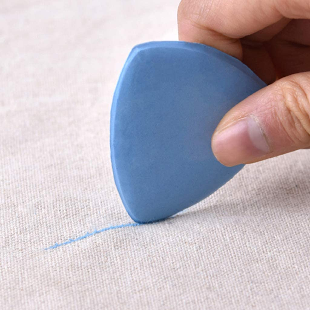 Blu Gwxevce sarta 20 Pezzi Tessuto Sarto Triangolo Gesso per Cucire marcatura Sartoria Bianco Rosa