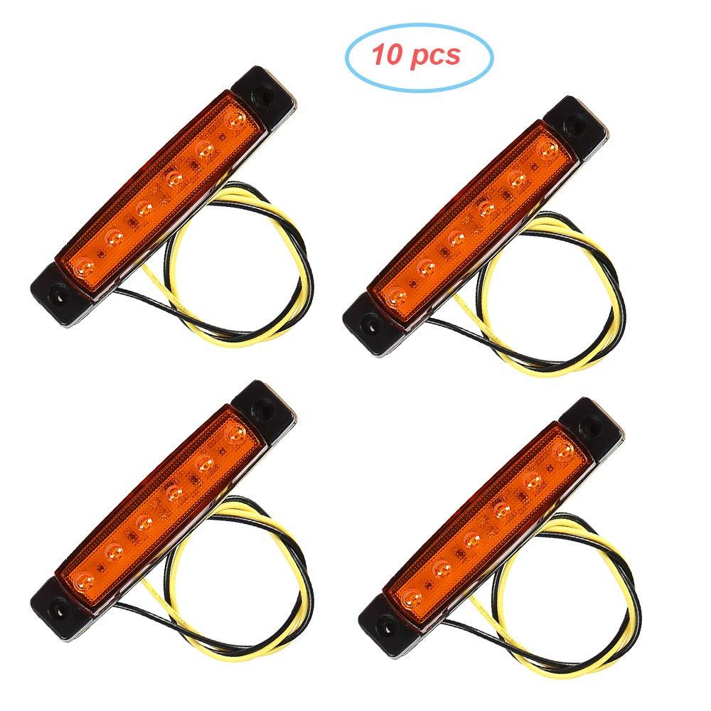 rosso, 12V AOHEWEI 10 x Luci di Posizione Laterali del Rimorchio LED Rosso Posteriore Anteriore del Camion Lampade Indicatori Laterali 12V per Rimorchio Furgone/Caravan/Camion