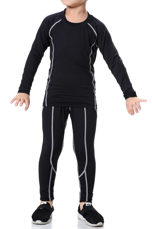 LANBAOSI Kids Thermal Underwear Set Athletic Shirt Pants for Boys Girls 2PCS by LANBAOSI