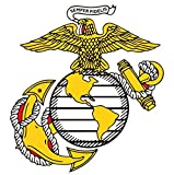1 Pc Primo Popular Marines Semper Sticker Signs Doors Proud Military Size 4.5
