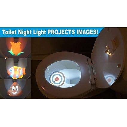 MNII Proyector De Luz Nocturna para Inodoro, Sensor De Movimiento para Niños, Inodoro para