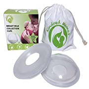 Kindred Mamas Breast Milk Collection Cups – Soft Silicone Nursing Shells, FREE CARRY BAG, Discreetly Collects & Saves Breastmilk, Phthalate Latex & BPA Free, Leak Proof Design, Protect Sore Nipples