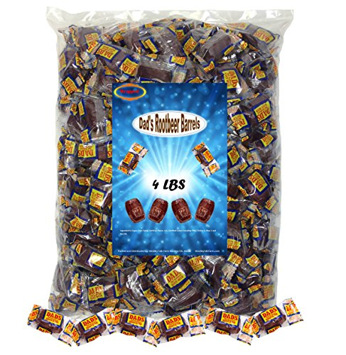 Dad's Root Beer Barrels 4 Lbs Washburn Individually Wrapped Old Fashioned Candy -