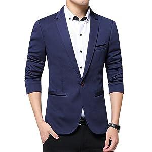 メンズ スーツ suits formalフォーマル チェック柄 テーラードジャケット ウール快適耐磨性ビジネスい無地 通勤スリム結婚式パーティーイベント紳士上品 大きいサイズ (ネイビー, XXXXXL)