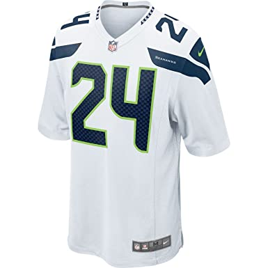 NFL Nike Seattle Seahawks Marshawn Lynch camiseta de fútbol americano en color blanco, hombre,
