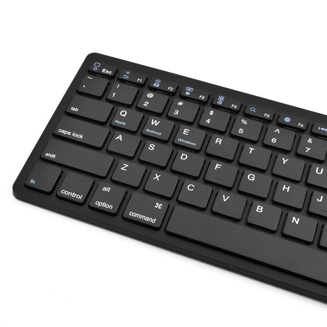 Amazon.com: DealMux portátil Mini sem fio Bluetooth teclado 2.4G Preto para iOS do Windows Android: Electronics