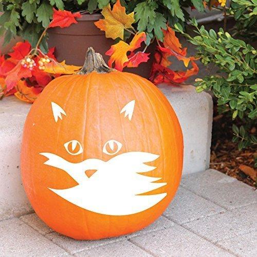 Halloween Decal , Fox Vinyl Sticker, Halloween Party, Halloween Home Decor,  For Pumpkin, Halloween, or Thanksgiving Decorations