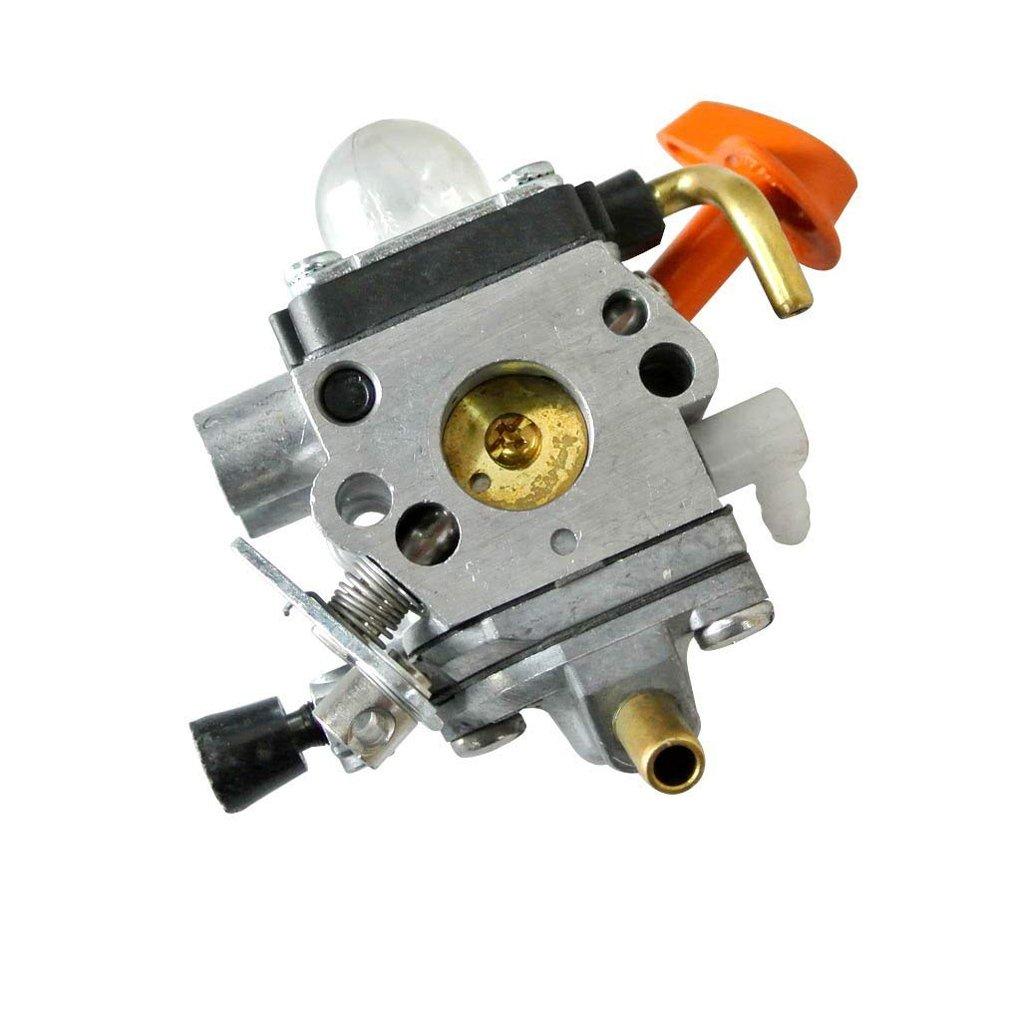 FLAMEER Vergaserkit F/ür Stihl FS110RX Trimmer Mit Kraftstoffleitung Und Abstreiferschutz