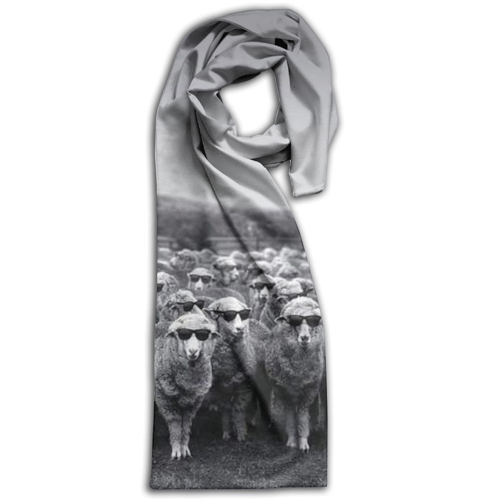 Doppyee Glasses Sheep Super Soft Classic Cashmere Pashmina Feel Winter Scarf For Men And Women