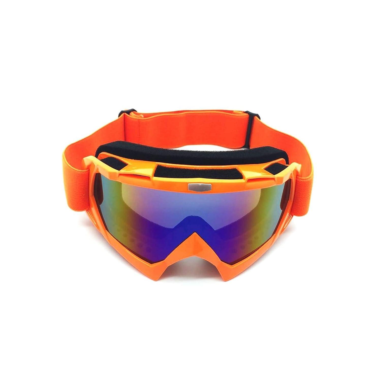 SonMo Motorrad Brille Fahrbrille Sportbrille Arbeitsbrille Schneebrille Snowboardbrille Radbrille Skibrille TPU+PC Skibrille für Brillenträger Herren Blendschutz mit UV Schutz Winddicht