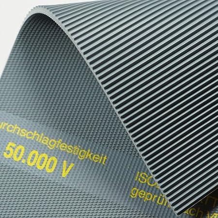 3m/² 1,2 x 2,50m Isoliermatte 50.000 Volt Feinriefenmatte VDE 0303 Gummimatte Gr/ö/ße w/ählbar 4,5mm