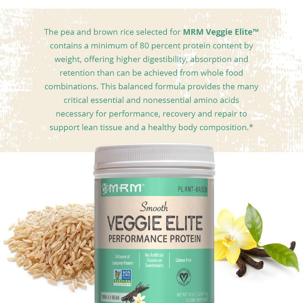 MRM - Veggie Elite rendimiento proteína, 24 gramos de deliciosas proteínas vegetales, allergen-free alternativa a Suero, vegetariana y vegana aprobado ...