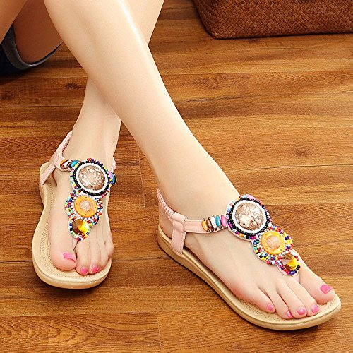 Soft Cool Bottom Sandals Slippers Pink Anti Slip 38 Thick Cool yalanshop Slippers Sand nR8Zqzx