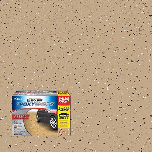 (Rust-Oleum 301246 EpoxyShield 2.5 Car Garage Floor Coating Kit, Tan Gloss)