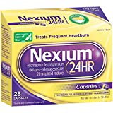 Nexium 24HR  (20mg, 28 Count) Delayed Release Heartburn Relief Capsules, Esomeprazole Magnesium Acid Reducer