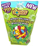Zorbz Self-sealing Water Balloons 250 count Battle Pack and Filler Nozzle