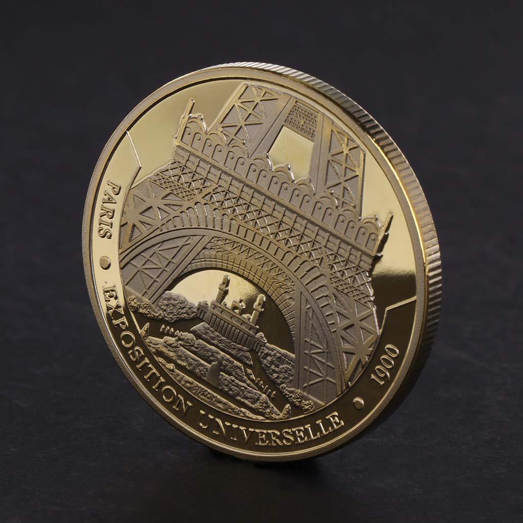 Kaikaiwang Tour de Paris comm/émorative Pi/èce de monnaie souvenir dart de collection