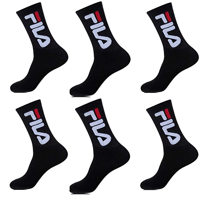 Fila.. - Calcetines de deporte - para hombre Multicolor Pack de 6 Paires Noires