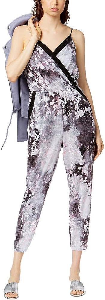 Bar III Printed Cropped Jumpsuit