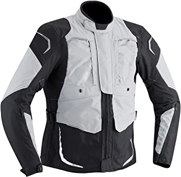 Chaqueta de verano Hombre Ixon Cross Air 1001 Color Negro o Gris Claro Talla XL: Amazon.es: Coche y moto