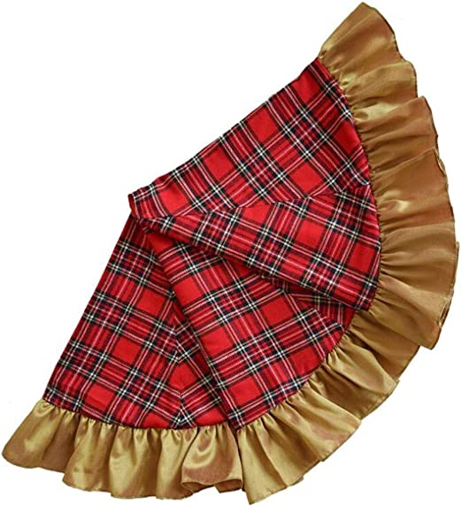 42 Pulgadas De Falda del Árbol De Navidad De La Tela Escocesa ...